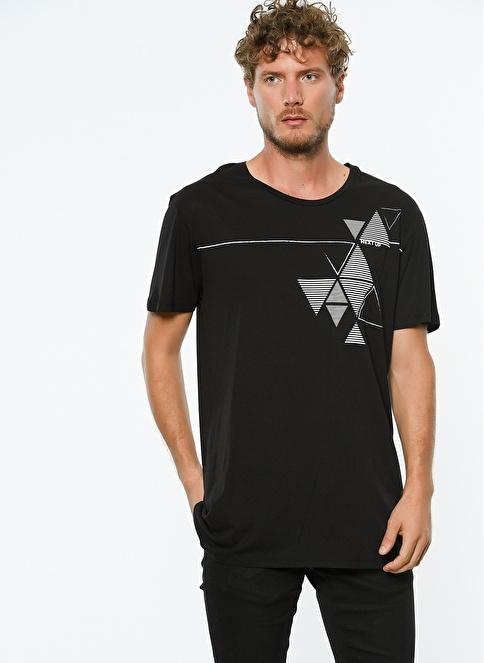 Hyperfolk Baskılı Tişört Siyah
